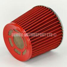 """Universal Twin Cono Filtro De Aire Rojo 76mm 3 """"entrada Turbo inducción Kit Punta (76134"""