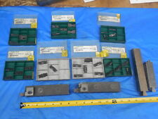 Lot Of New Tool Flo Inserts With Tool Holders & Other Tooling Grooving