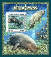 Niger 2016 MNH Dugongs 1v S/S Marine Mammals Wild Animals Stamps