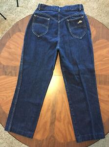 Chic Vintage Mom Jeans 80s Dark Wash Womens 14