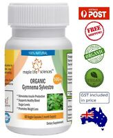 ORGANIC Gymnema Sylvestre Leaves Capsules - Controls Blood Sugar - AU Stock