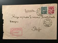 Cover Latvian Stamps