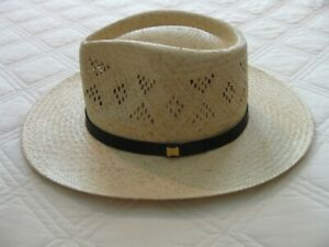 STETSON VENTED STRAW HAT NWOT