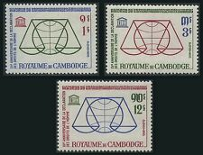 CAMBODGE N°141/143** Droits de l'Homme 1963, CAMBODIA Human Rights  MNH