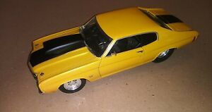 Diecast 1:18 Scale Welly 1970 Chevelle Pro Street Limited Edition Yellow