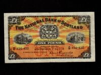 Scotland:P-258c,1 Pound,1958 * The National Bank of Scotland Limited * VF *