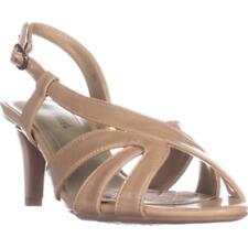 Narrow (AA, N) Synthetic High (3 to 4 1/4) Heel Height Sandals for Women