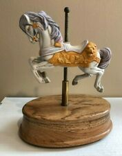 Willitts Musical Carousel Horse Moves Up&Down Plays Tales From The Vienna Woods