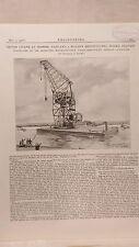 150 Ton Shipbuilding Crane, Belfast: 1908 Engineering Magazine Print
