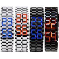 LED Digital Samurai Lava Wrist Watch Plastic Sports Style Mens Womens Unisex GF