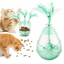 New listing Jhua Cat Toys, Food Dispenser for Cats 3 in 1 Interactive Cat Toy green