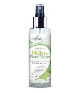 Organic 100% Melissa Floral Water 150ml Rejuvenate Tone Dull Skin Glass Bottle