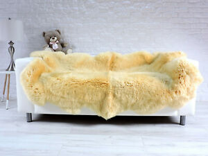 SHEEPSKIN RUG SHAG RUG AREA RUG QUATRO SHEEPSKIN MEDICAL YELLOW LEATHER RUG 783