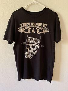 Slumerican Yelawolf Skull & Roses T-Shirt Men's Medium Pre-Owned