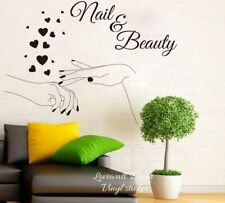 Nail Beauty Wall Sticker Manicure Polish Varnish Cosmetic Spa Shop Wall Decor