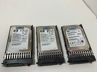 "3 (3) HP DG072A8B54 72GB Internal 10000RPM 2.5"" (375696-002) HDD Hard Drive"