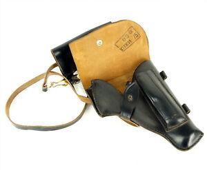 Soviet Russian Makarov Pistol PM Gun Black Leather Holster Soviet Surplus 1975