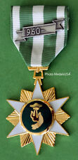 Vietnam Campaign Medal (VCM)  Domed Full Size with date bar - 1960's style