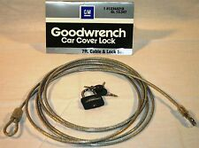 GM# 12344218 OEM Car Cover Security Lock Cable Package by GM (With 3 Keys)