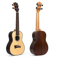 Kmise Solid Spruce Concert Ukulele Ukelele Uke Hawaii Guitar 23 inch 18 Fret