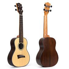 Kmise 23 inch Ukulele Concert Ukelele Uke Solid Spruce Guitar for Beginners Gift