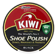 Kiwi Shoe,Boot Polish Shine Protector Leather 100ml Tin in Black Colour