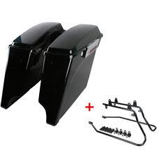 Hard Saddlebags Saddle bag + Conversion Bracket For Harley Davidson Softail New