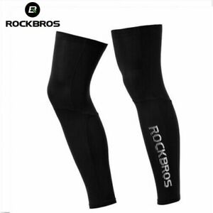 ROCKBROS Cycling Leg Knee Covers Silk Ice Cool Leg Warmers Outdoor Sports Covers