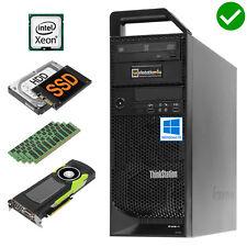 ❽ -core Lenovo Thinkstation S30 Pc Xeon E5-2670 Ram 64gb SSD 480gb + HDD K2000