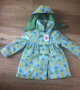 Beauty & The Bib Pineapple Showerproof Coat. BNWT
