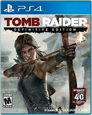 Tomb Raider Definitive Edition Sony PLAYSTATION 4 PS4 Square Enix Tout Neuf
