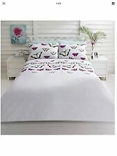 King Size Butterfly Butterflies Duvet Set Quilt Cover Reversible Bedding set