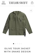 taylor swift rep reputation olive green army jacket coat tour hoodie unisex M