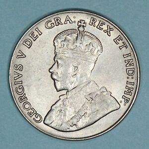 1927 Canada 5 Cents coin, AU/UNC, KM# 29