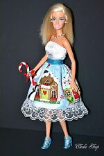 Unique Ooak Home For Christmas Holiday Gingerbread House Barbie Doll Gift
