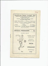 Scunthorpe United v Lincoln City 30 March 1959