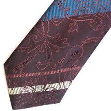 Purple Blue Paisley Striped KENZO Silk Tie