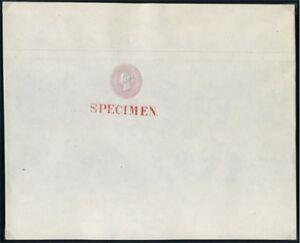 1844 QV 1d Pink Embossed SPECIMEN on Dickinson Paper SG Spec LP3