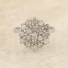 1.24 Carat Diamond Cluster Ring 18ct White Gold