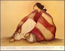 """R C Gorman Poster""""Woman from Window Rock"""" Vintage GALLERY Poster FREE SHIPPING"""