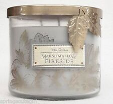Bath & Body Works White Barn MARSHMALLOW FIRESIDE 3-Wick Scented 14.5 oz Candle