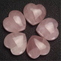 Natural Pink Rose Quartz Crystal Polished Love Heart Healing Stone Jewelry DIY