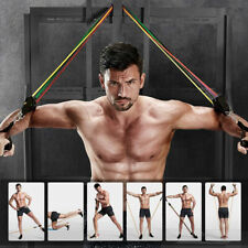 11pcs/Set Pull Rope Exercise Resistance Bands Home Gym Equipment Fitness Yoga
