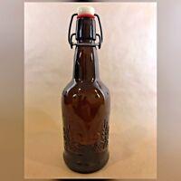 Amber CZ CAP Bottle with Stopper - VINTAGE -