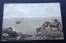 POSTCARD: LANDS END AND THE SONGSHIPS: POSTED: POST DATE ON CARD IS 1925