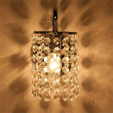 New Crystal Droplets Chrome Single Wall Light Sconce Lighting Corridor Living V0