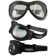 Big Ben Clear Anti Fog Clear Lens Goggles Fit Over Glasses Motorcycle With Pouch