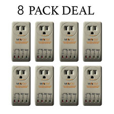 8 Pack New Refrigerator 1800 Watts Voltage Brownout Appliance Surge Protector