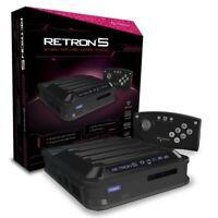 RetroN - 5 Konsole #schwarz (für SNES + NES + GB + Mega Drive Spiele) (mit OVP)