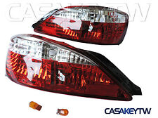 Tail Lights Lamp RED CLEAR For 99 00 01 02 NISSAN Silvia S15